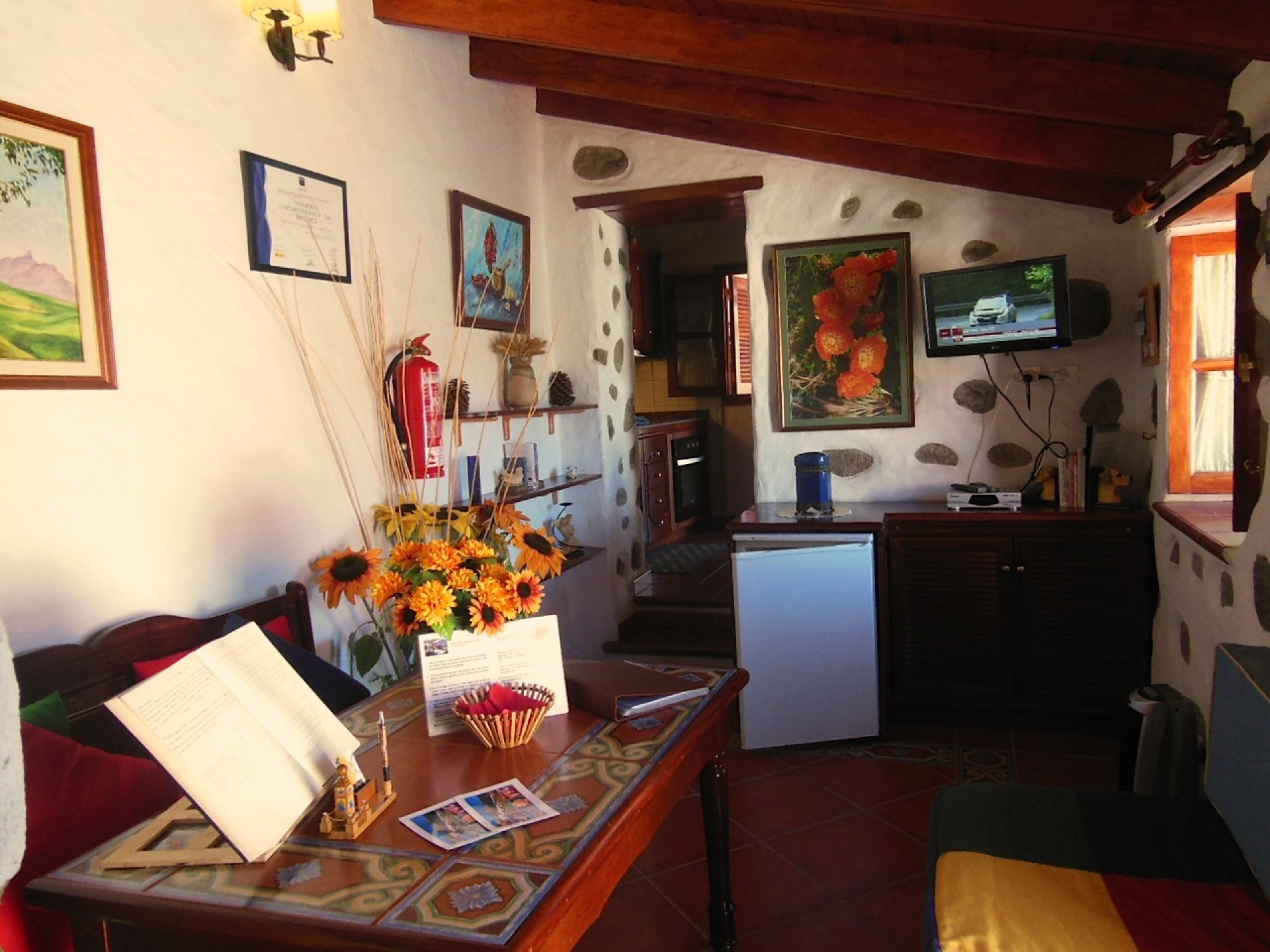 Sala de estar Casita Rural Bentayga